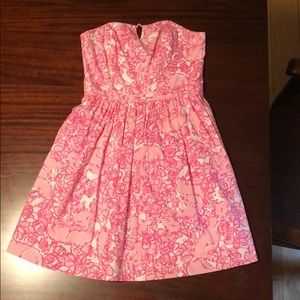 Lilly Pulitzer strapless dress in She's A Fox